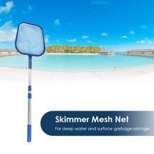Skimmer Da Folha de plástico de Malha Líquido de Limpeza Profissional de Limpeza com Vara Telescópica Piscina Lagoa Banheira Ferramenta de Resgate de Lixo