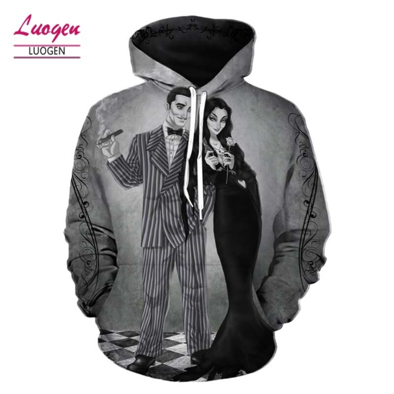 Luogen 3d Long Sleeve Couple Hoodie Tide Casual Hip Hop Men Women Top Hoodies Sweatshirts Streetwear Out Coat Drop Shipping
