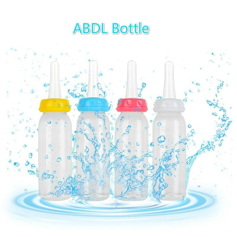 Biberón para adultos-4 colores ABDL y DDLG, botellas de leche perfectas para juegos de edades/botella de pequeño espacio Ddlg para papá, niña pequeña