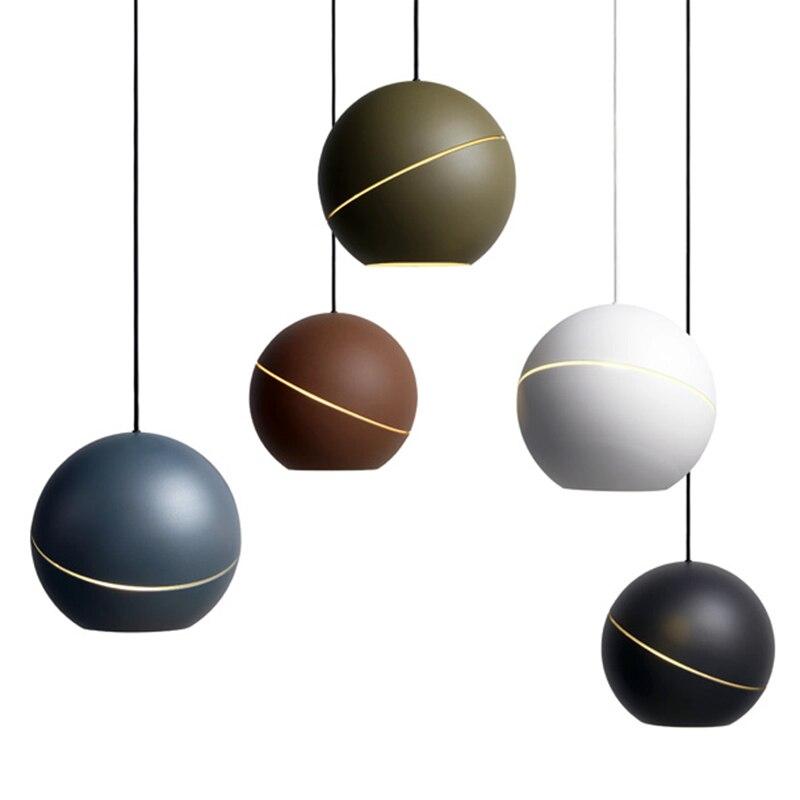 Galería de Arte G9 bola led lámpara de hierro colgante luces para estudio de arte Bar de Led lámparas colgantes para vivir habitación dormitorio lámpara de pared