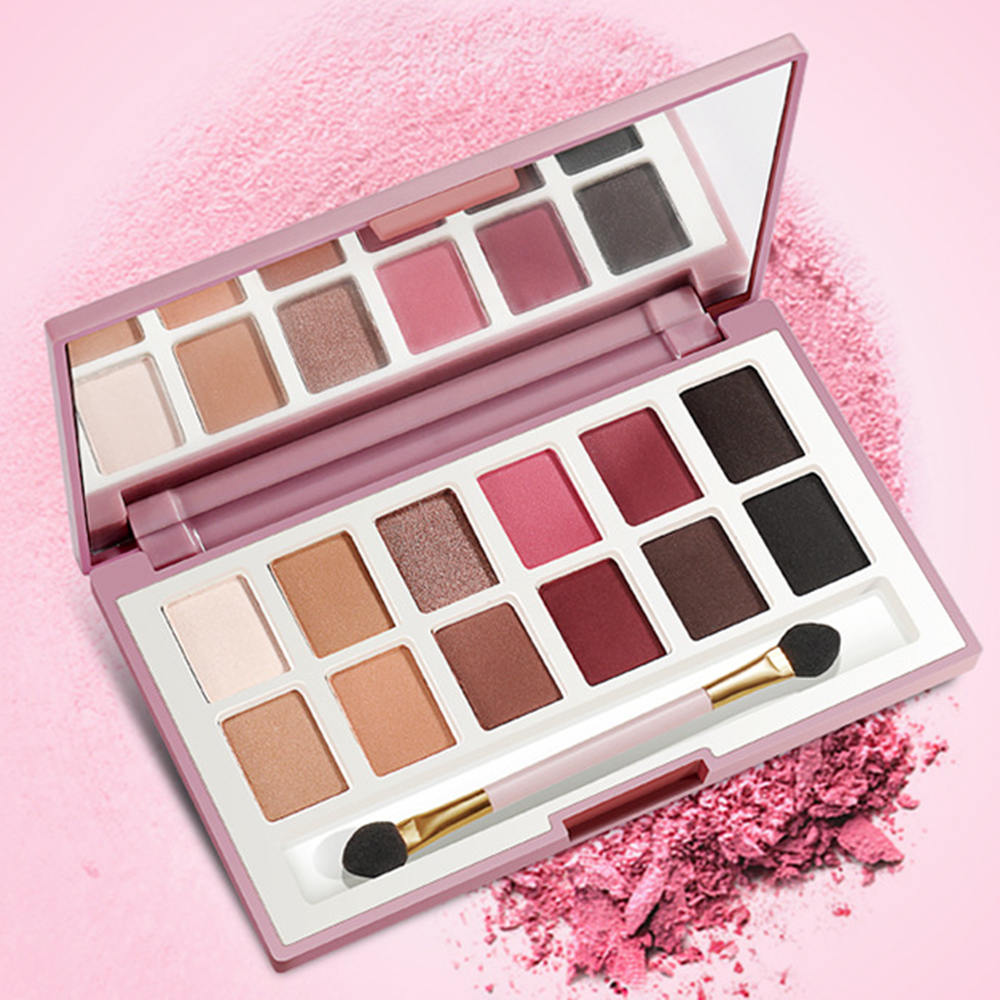 12 Color Shimmer Warm Winter Eyeshadow Palette Portable Glitter Beauty Makeup Set Pigmented Eye Shadow