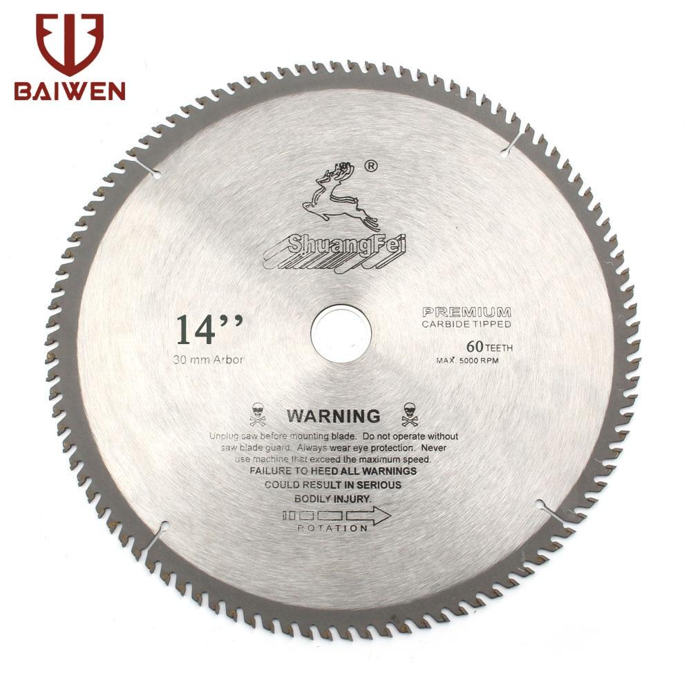 """14 """"Premium Hartmetall Kreissäge Klinge Für Holz/Aluminium Schneiden 60 80 100 120 Zähne"""