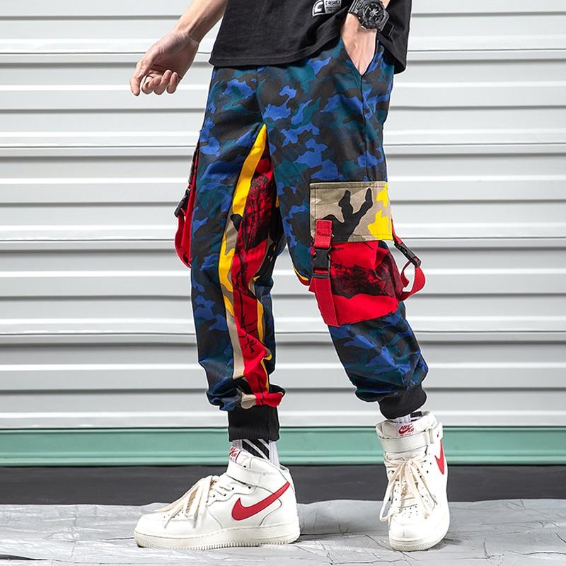 Модные свободные штаны-шаровары, Одежда для танцев, Мужские штаны для бега, спортивные штаны для улицы, хип-хоп, повседневные камуфляжные штаны для мужчин