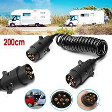 2M 200cm 7 broches voiture remorquage remorque panneau de lumière rallonge câble plomb camion prise prise fil partie accouplements Circuit prise