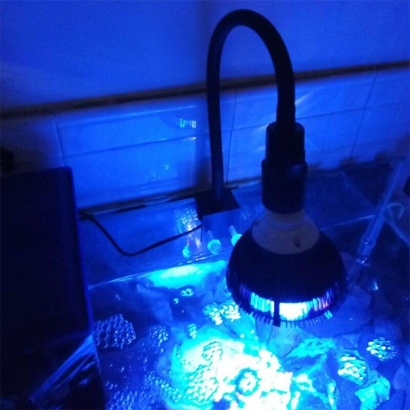 Abrazadera de luces led para acuario, accesorios de luz con clip, soporte para lámpara E27, pinza con cuello de ganso E27 de 360 grados, portalámparas