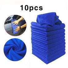 10 PCS 마이크로 화이버 자동차 청소 타월 자동차 오토바이 세척 유리 가정용 작은 타월 청소