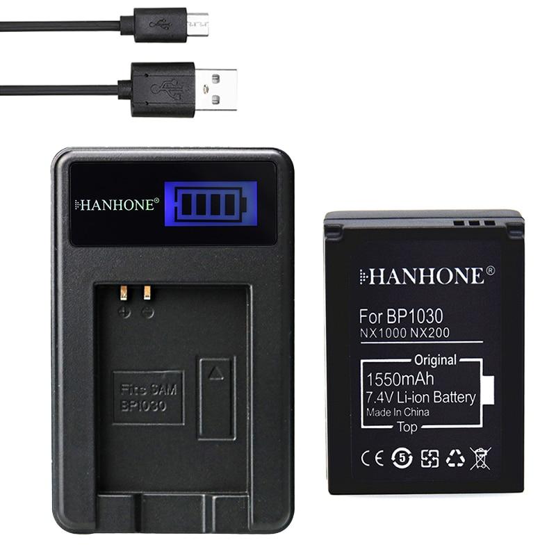 1550mAh BP-1030 BP1030 BP1130 BP-1130 ED-BP1030 de batería de la Cámara LCD + cargador para Samsung NX200 NX1000 NX210 NX1100 NX2000 NX-300M