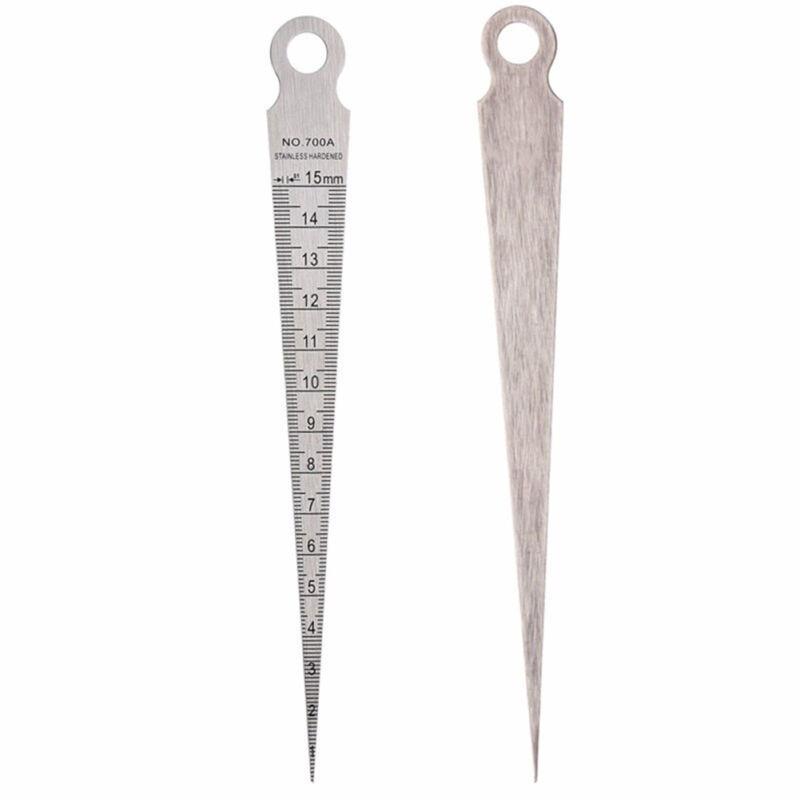 1-15mm Metric Feelers Stainless Steel Hole Gap Inspection Taper Gauge Ruler Metric Measure Tool недорого