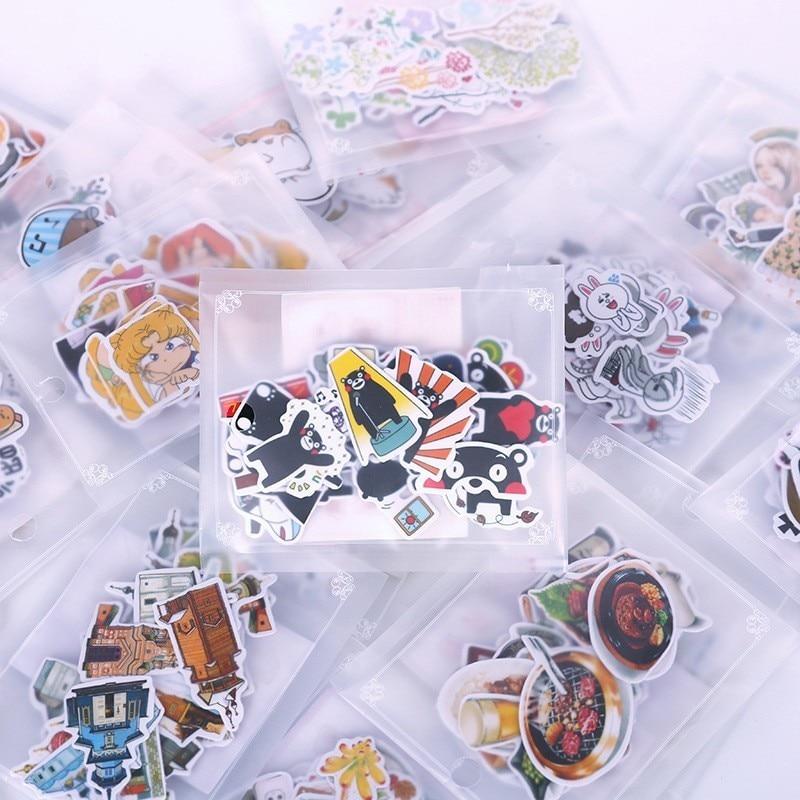 1 paquete de pegatinas de dibujos animados para niños, papelería para álbumes DIY, decoración de diario para álbumes de recortes