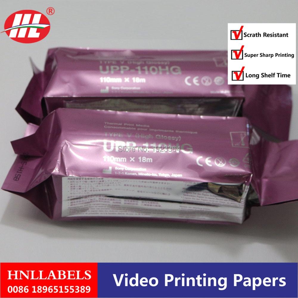 5 ROLL UPP-110HG for sony printer 110mm*18m high quality