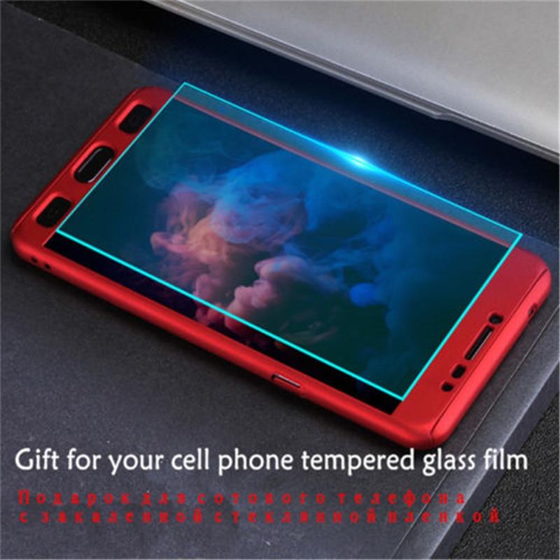 Funda híbrida completa y cristal templado para Samsung J6 2018 J3 J5 J7 Pro 2017 360 Protector de pantalla para Galaxy J7 J5 J3 J2 2016