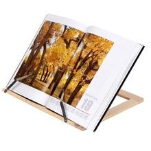 Di legno Libro di Lettura Supporto Del Basamento Leggio In Legno Tablet PC Staffa Reggilibri