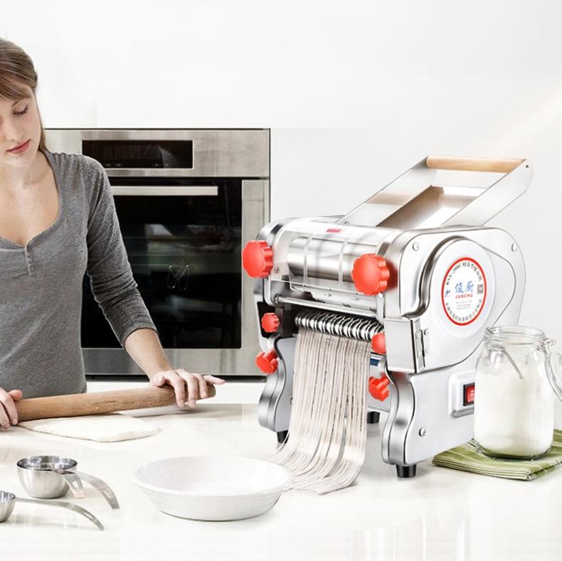 Prensa eléctrica de Pasta máquina de fideos de acero inoxidable comercial hogar 750W
