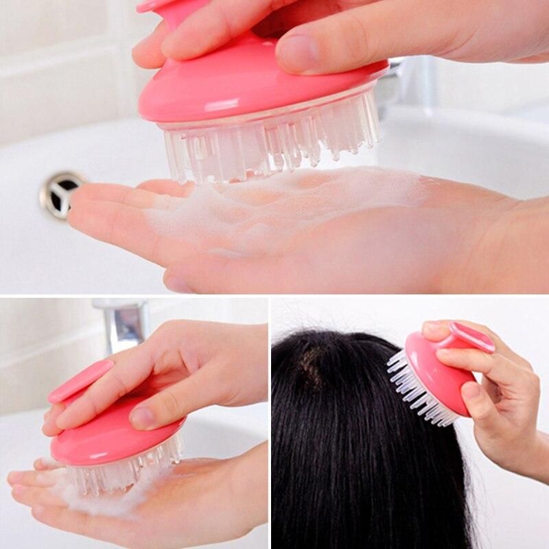1 PCS Spa Slimming Massage Brush Silicone Airbag Scalp Head Body Bath Massage Brush Comfortable Shower Hair Shampoo Washing Comb