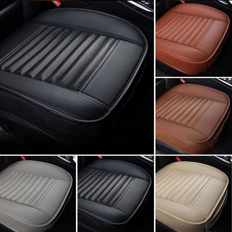 Universal capa de assento do carro respirável couro do plutônio almofada esteira para cadeira de automóvel almofada do assento da frente do carro quatro estações anti deslizamento esteira
