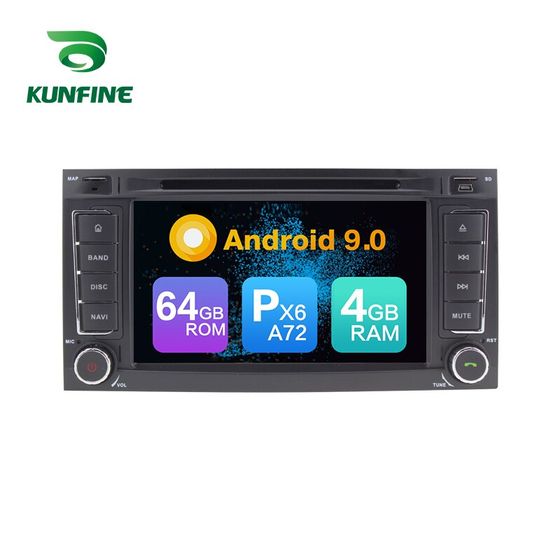 Android 9,0 Core PX6 A72 Ram 4G Rom 64G coche DVD GPS reproductor Multimedia estéreo de coche para VW TOUAREG 2004-2011 Radio Unidad Principal