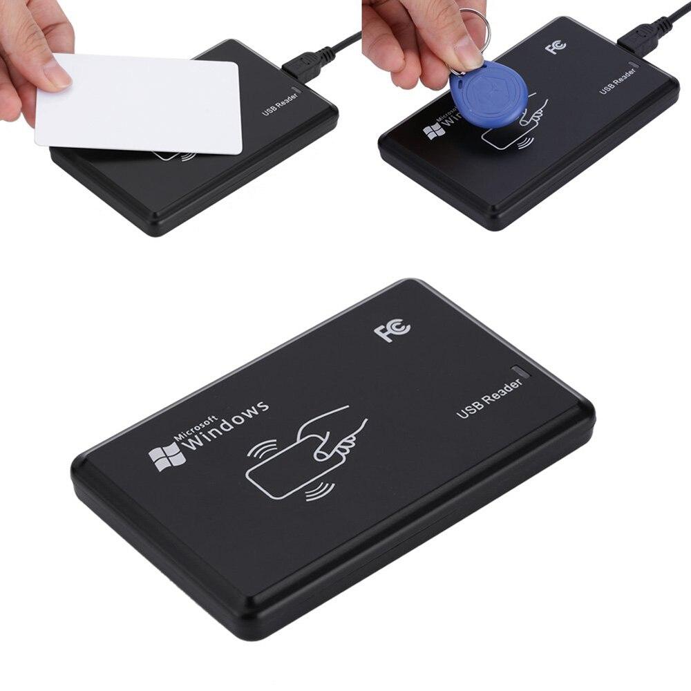 Para Control de acceso seguridad del hogar con Cable USB 125 KHz RFID ID EM lector de tarjetas escritor copiadora con 5 piezas etiqueta de llave EM4305 + tarjeta T5577