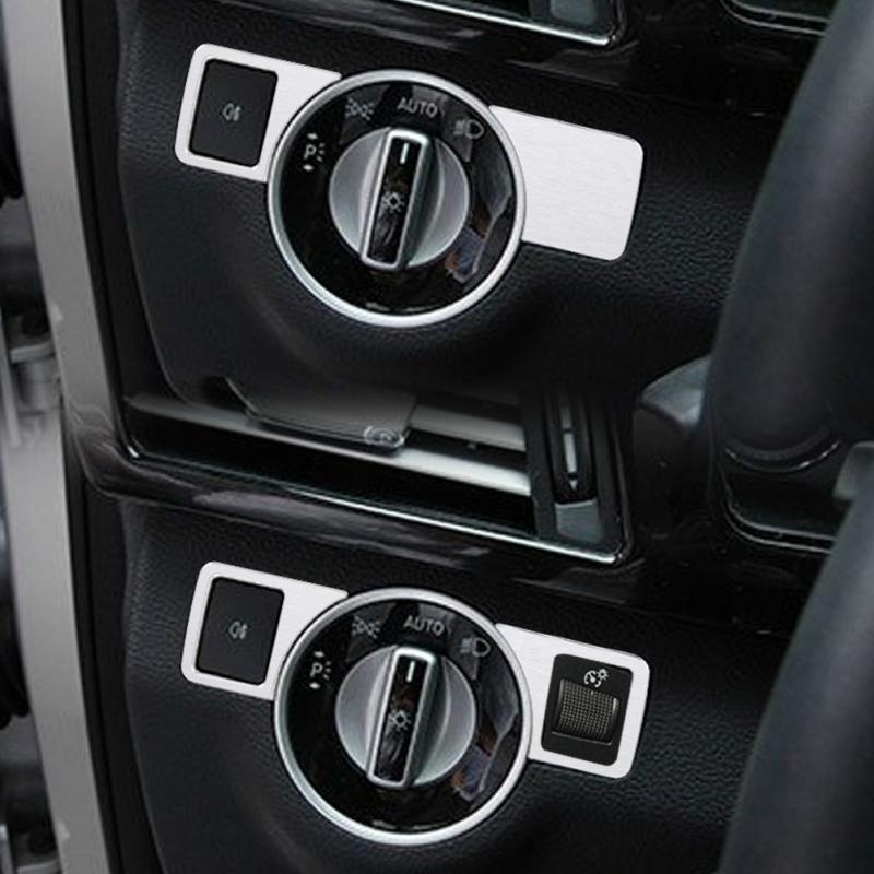 Хромированная Автомобильная крышка для фар, кнопка переключения, Накладка для Mercedes Benz A B C E GLK GL ML Class W176 W246 W204