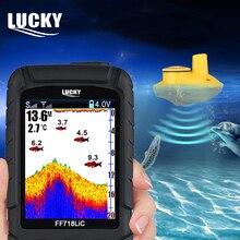 Détecteur de poisson sans fil Portable ff718lique chanceux au lieu de FF718 affichage coloré sondeur de pêche sondeur alarme