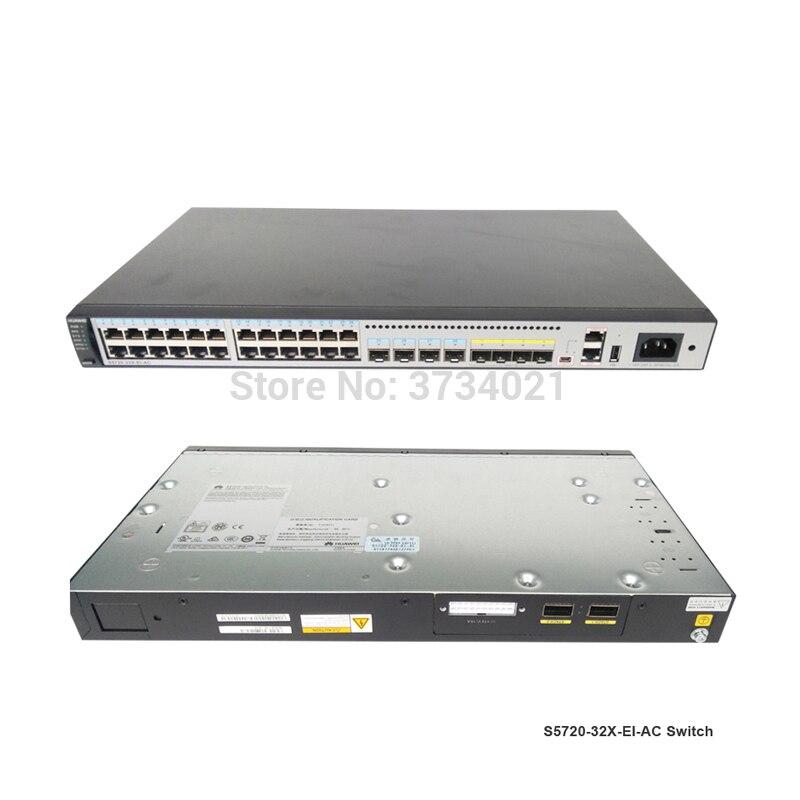 Conmutador SFP S5720-32X-EI-AC de 24 puertos huawei, 24x10/100/1, 000 base-t, 4x100/1, 000 base-x SFP, 4X10 Gig SFP + interruptor huawei
