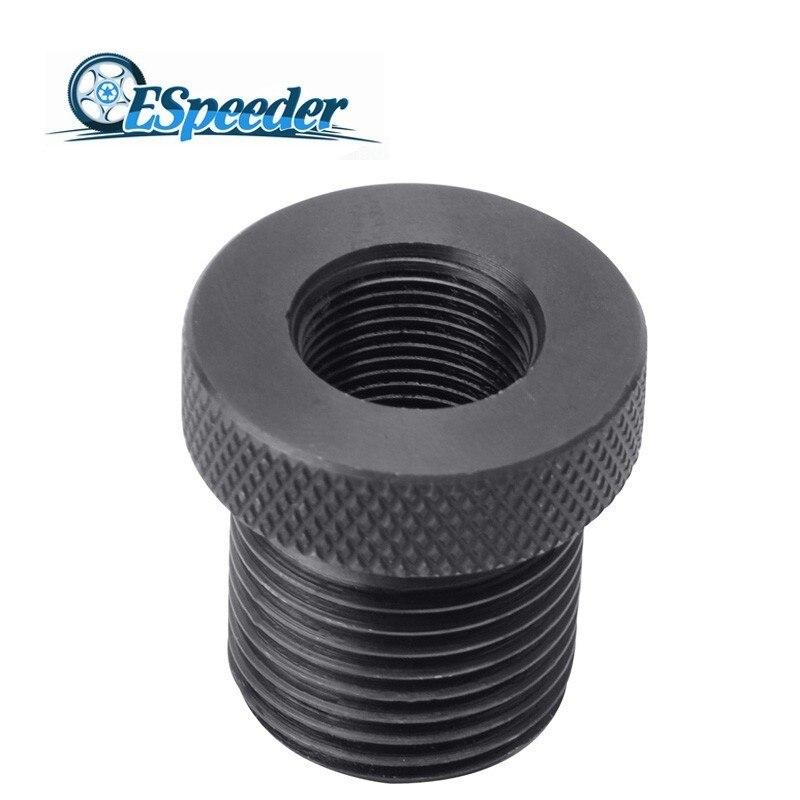 ESPEEDER adaptador Universal de filtro de aceite de hierro negro 1/2-28 a 13/16-16 adaptador roscado automotriz filtro de aceite pieza de coche