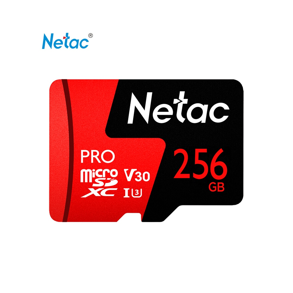 Netac Pro-tarjeta de memoria TF, para almacenamiento de datos, V30/UHS-I U3, alta velocidad de hasta 100 MB/s, 64G, 128G, 256G, opcional