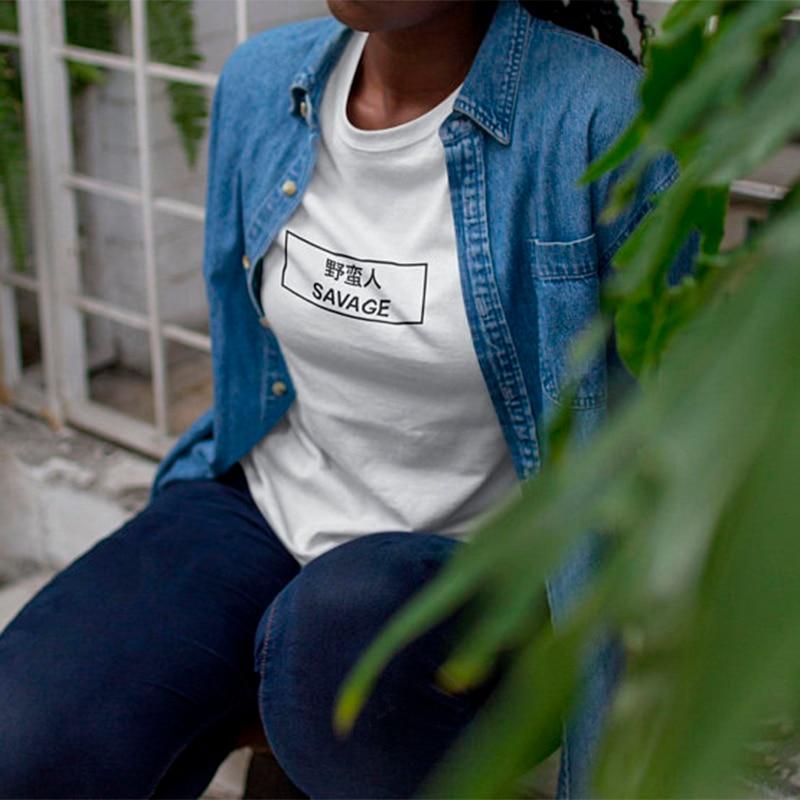 T camisa Harajuku Tops camisa de talla grande ropa camiseta, mujeres camiseta Tops de verano para mujeres 2018 Savage camiseta Femme chino cercanas camisetas XS-3XL