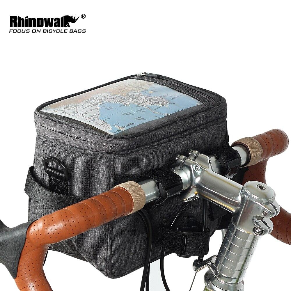 Bolsa de bicicleta resistente al agua Rhinowalk, pantalla táctil, manillar, bolsa para tubo delantero, bolso de hombro multifunción para teléfono, cámara, contenedor GPS
