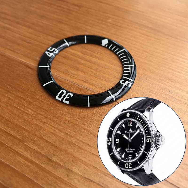 Inserções para Blancpain Vidro Luminoso Preto Relógio Bezel Cinqüenta Brahoms 45mm Automático Masculino Peças Ferramentas