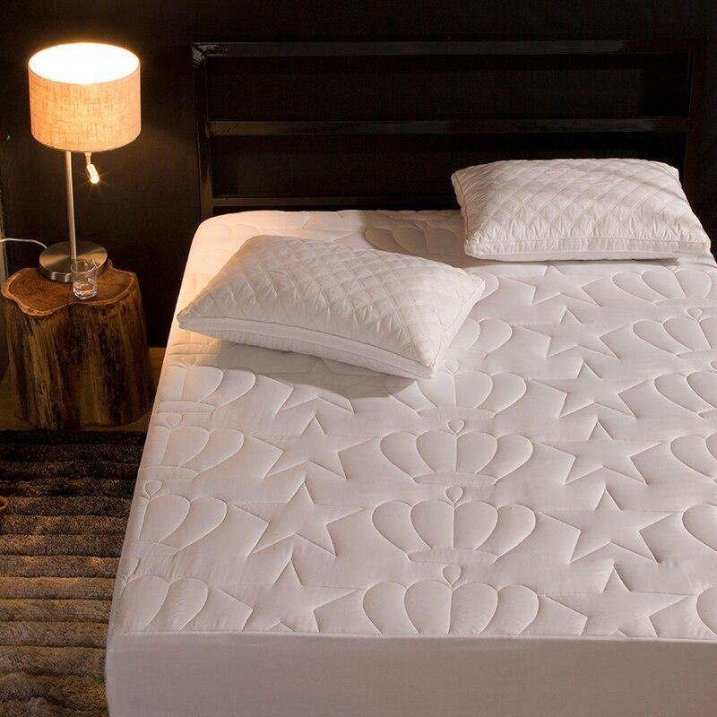 Protecteur de matelas matelassé   Nouveau produit, motif couronne, drap-housse séparé, linge de lit deau avec élastiques 57