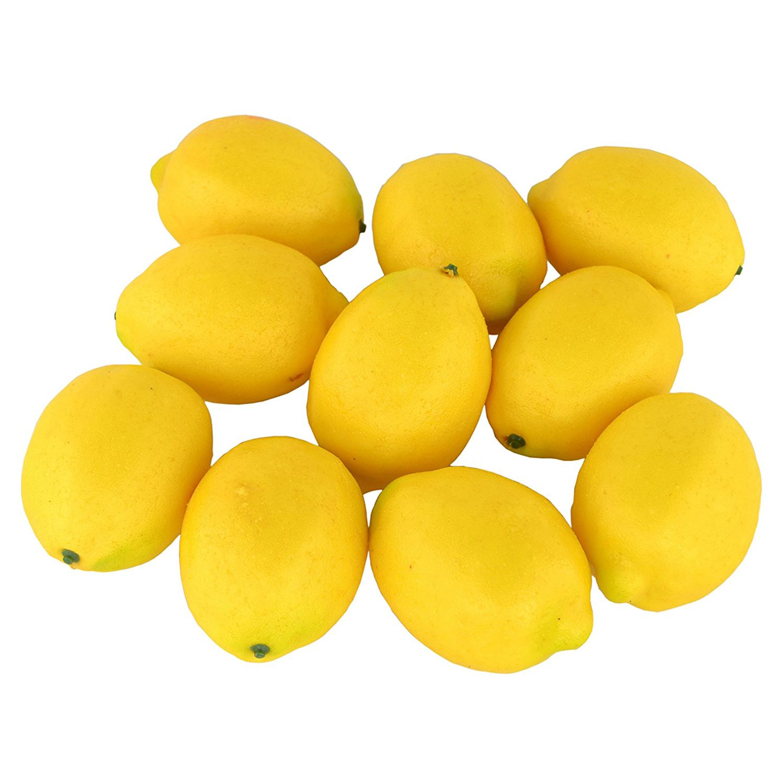 Fruta falsa casa cocina fiesta decoración Artificial realista simulación amarillo limón 10 Uds Set