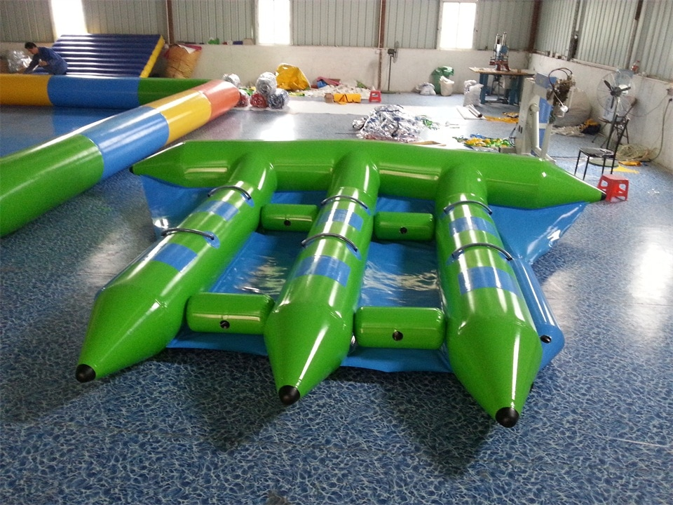 6 persons use banana boat fly fish,inflatable flying fish, inflatable flying banana boat