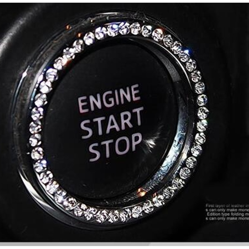Anel de ignição do carro adesivo acessórios para mini cooper r56 mazda cx-3 ford fiesta mini cooper ford kuga volvo v60 alfa romeo gt