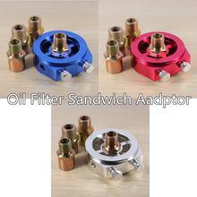 Универсальный Масляный фильтр Сэндвич-адаптер пластина 1/8 NPT датчик давления датчик масляный фильтр сэндвич-панель адаптер