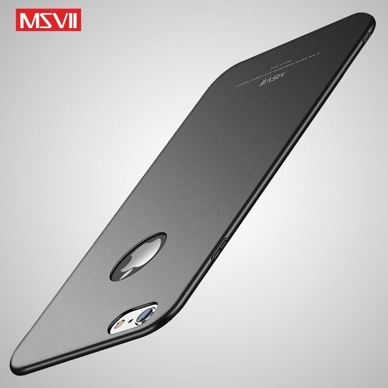 Fundas Msvii para iphone 6, carcasa fina esmerilada, carcasa para iPhone 6 S 6 S, carcasa dura de PC para Apple iPhone 6 s Plus, fundas para teléfono