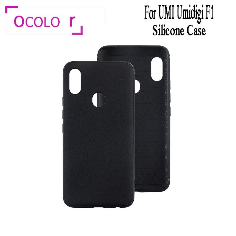 Ocolor para UMI Umidigi F1 TPU cubierta de silicona caso de la cubierta de funda protectora para smartphone para UMI Umidigi F1 jugar al teléfono caso Anti-knock