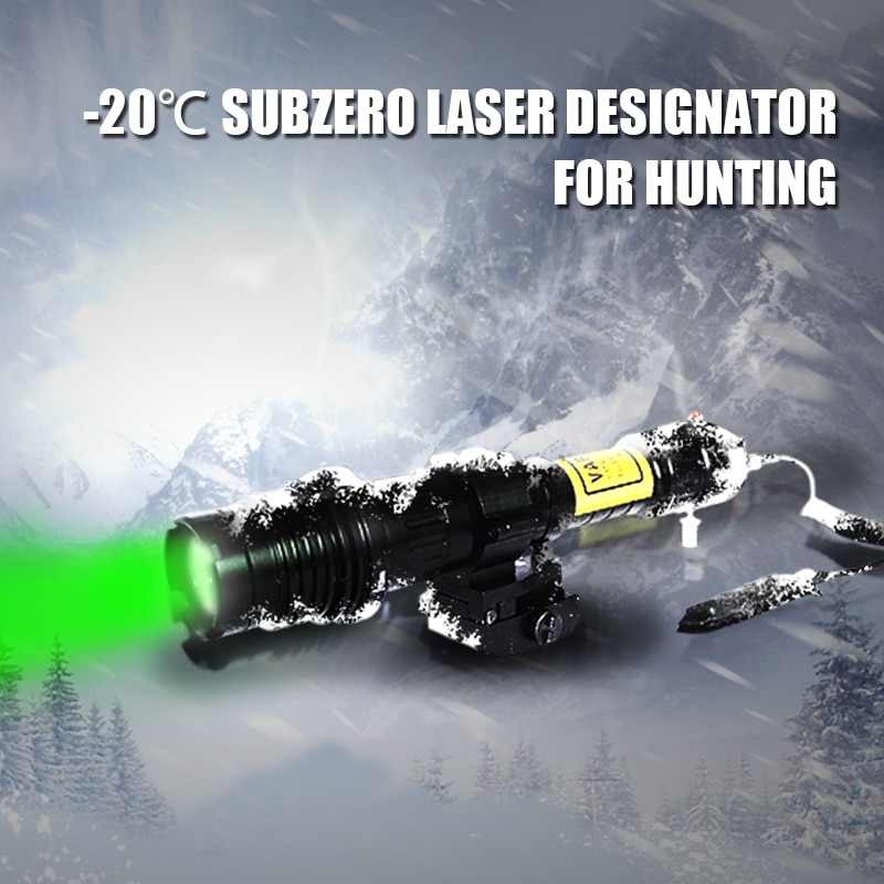 Laserspeed Adjustable Green Laser Sight Designator/Illuminator/Flashlight W/Picatinny Mount 100mw Subzero for Hunting Weapon