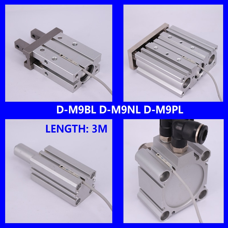 Tipo SMC de estado sólido interruptor Auto montaje directo tipo D-M9B D-M9N D-M9P D-M9BL D-M9NL D-M9PL magnético Senson para cilindro de aire