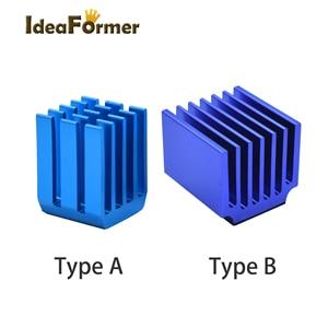 Детали для 3D-принтера 4/5/10 шт./лот, радиаторы для шагового двигателя, блок охлаждения для модулей привода TMC2100 LV8729 DRV8825