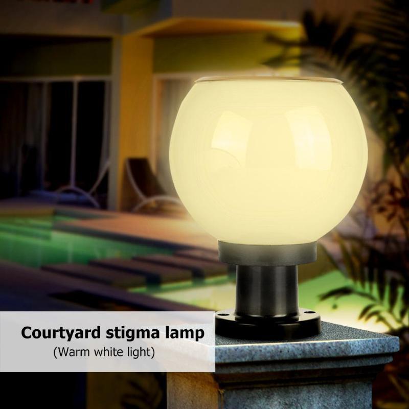 LED resistente al agua Solar Bollard de la luz al aire libre jardín patio, césped Pilar lámpara
