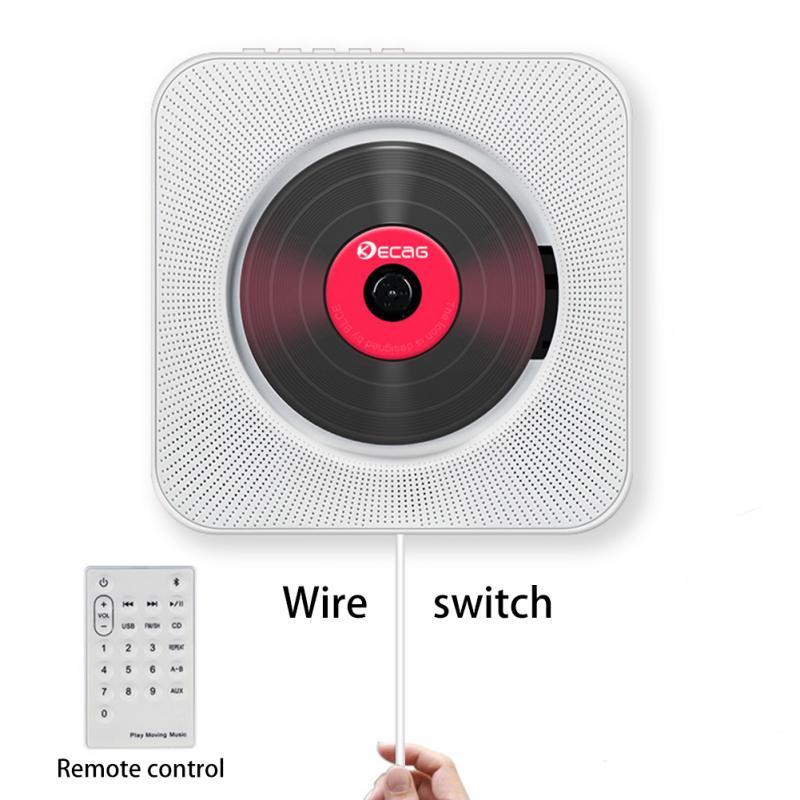 CD плеер настенный Bluetooth портативный домашний аудио магнитофон с дистанционным управлением FM радио встроенный HiFi колонки USB MP3