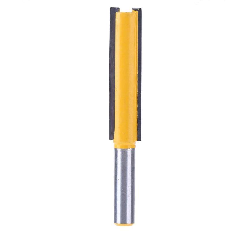 Vástago recorte de madera cabeza de corte de madera fresadora cementada tallado rodamiento cortador Bit herramientas de mano Ferramentas 8mm nuevo