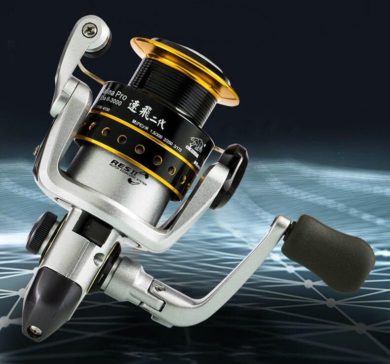 OKUMA SPA II-1000/2000 Spinning Reel 6BBMetal Head Fishing Wheel Seapole Fishing Gear Carp Fishing Strong Lure Spooler Lure Coil enlarge