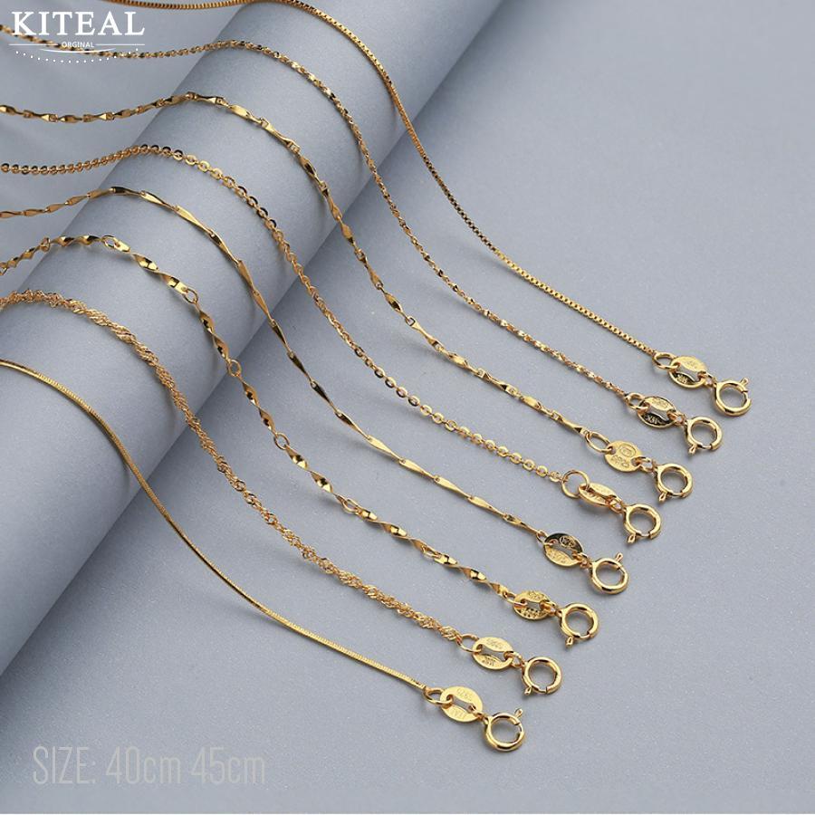 Nuevo puro 100% serpiente de plata de ley 925/giro/Cadena de onda de agua collar Amarillo/oro rosa Color sólido joyería de plata