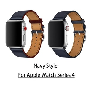 Для Apple Watch Series 4 новейший кожаный ремешок для наручных часов из натуральной кожи для Apple Series 1 2 3 herm ремешок 38 мм 42 мм
