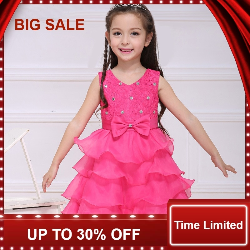 Children's Dresses For Girls Wedding Party Baby Girl Princess Birthday Baptism Dress Teenager Girl Clothing