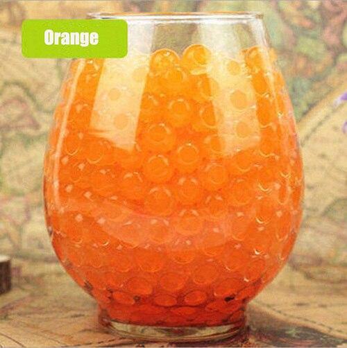 Über 100 Teile/los Orange Wasser baby Perlen Kristall Boden Wasser Perlen Schlamm Wachsen Ball Wasser Magic Balls Home Decor Hochzeit hydrogel
