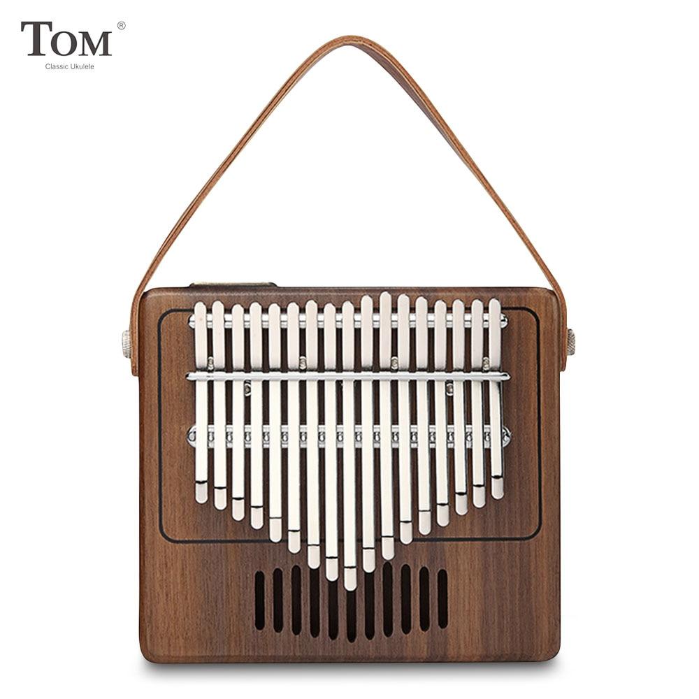 TOM TK-R1 17-clave 14,50*13,00*3,00 cm piano de pulgar Kalimba de madera instrumento Musical