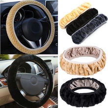 Universal Warm Plush Steering Wheel Cover Furry Fluffy Soft Plush Car Wheel