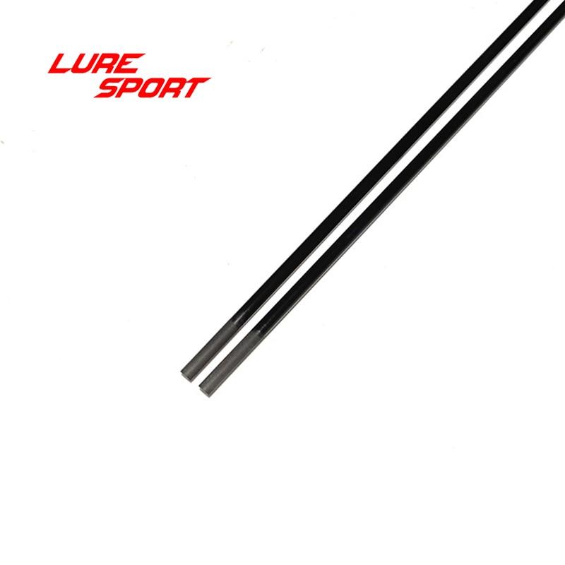 LureSport 2pcs 1.25m Solid carbon rod  blank Black paint UL Toray Carbon fishing Rod building components  Pole Repair DIY enlarge